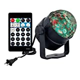 Ocean Water Wave Disco Light,AVEKI 15 Modes Sound Activated Party Projector Disco Crystal Ball Lighting with Remote Controller for Home Room Dance Birthday Parties DJ Bar Club Pub