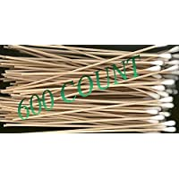 """600pcs 6"""" Swabs Cotton Stick Cotton Tipped Applicator Single Tip with Wooden Handle (600 Count)"""