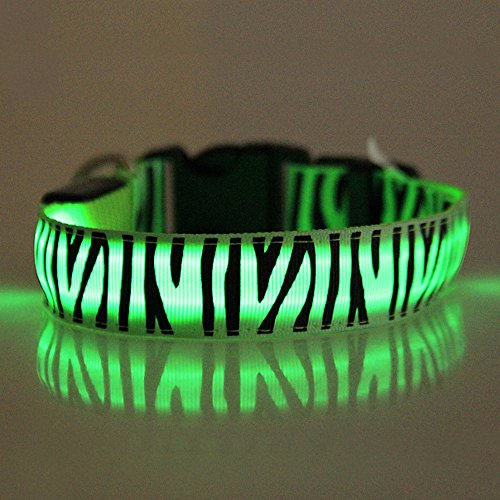 (Hpapadks Glowing Pet Dog Collar Collar,Adjuatable Led Dog Cat Pet Collar Bright Flashing Necklace Hot Dog Supply Store)