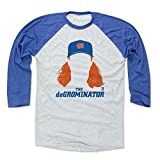 500 LEVEL Jacob deGrom Baseball Tee Shirt - New York Baseball Raglan Shirt - Jacob deGrom Silhouette