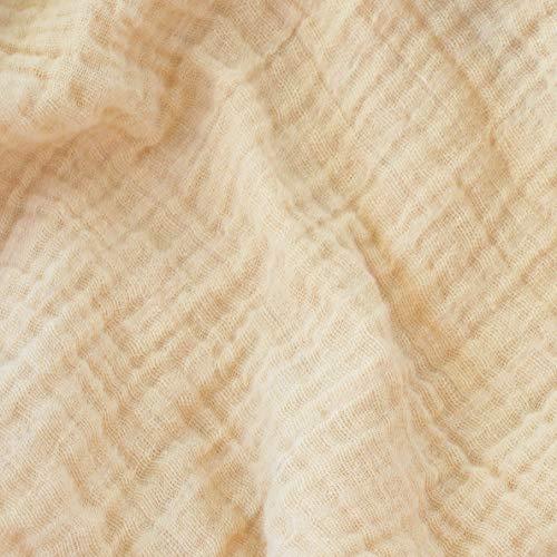 Sunny Double Gauze Fabric in Sand - 1 Yard - Premium 100% Cotton Muslin Fabric - 52