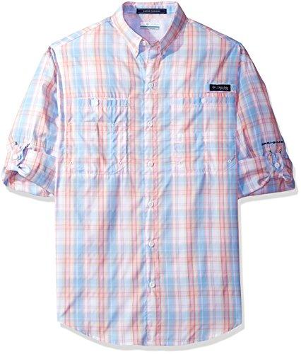 Columbia Mens Super Tamiami Long Sleeve Shirt, Sail Multi Check, Small