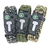 3Bears-Outdoor-Survival-Paracord-Bracelet-With-Compass-Fire-Starter-And-Emergency-WhistlePack-of-3