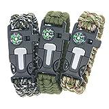 3 Bears BoyScout Outdoor Survival Paracord Bracelet