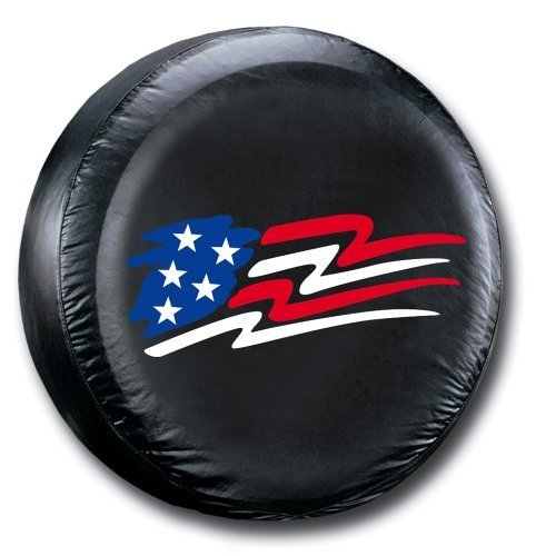 Altopcar Black American Flag Spare Tire Cover Wheel Covers for All Cars Tyre Diameter (16