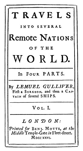 GulliverS Travels 1726 Ntitle Page Of The First Edition Of Jonathan SwiftS GulliverS Travels London England 1726 Poster Print by (24 x 36)