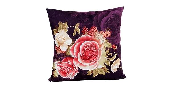 DEELIN última Moda Retro Estilo Rosa Floral impresión Tinte ...