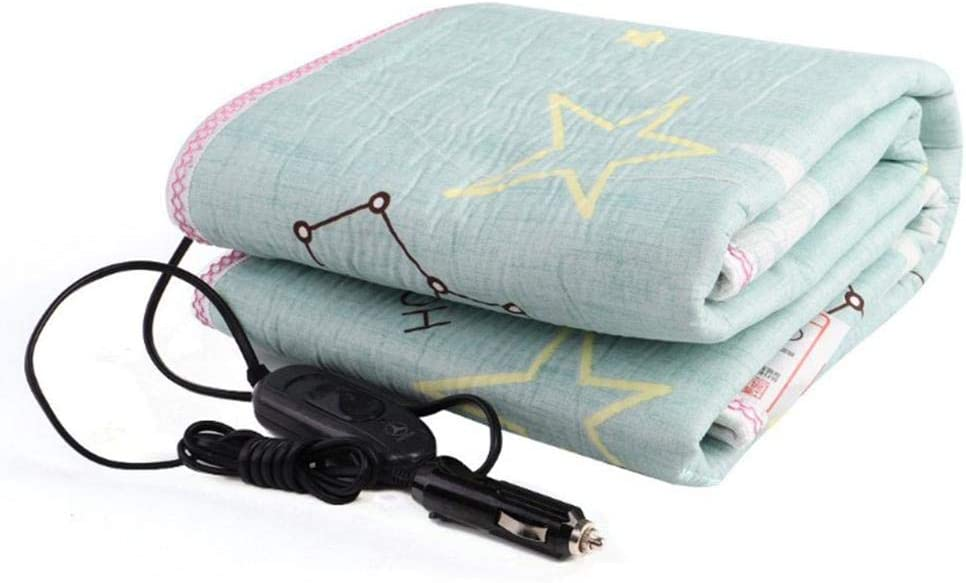 hinffinity Electric Blanket 12V//24V Car Heated Throw 150 70cm Travel Camping Picnic 50W Waterproof heating pad Heating Quilt Cushion Emergency Kits for Cold Weather