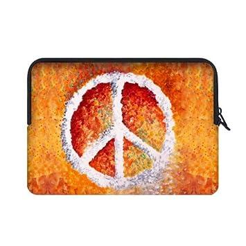 Mejor elegante símbolo de la Paz pintura 15.6 inch Laptop/Ordenador portátil Manga Bolsa Bolsa