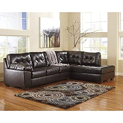Amazon Com Ashley Furniture Alliston 2 Piece Leather Sectional Sofa