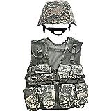Kids-Army ACU Helmet and Kids ACU Combat Vest Combo