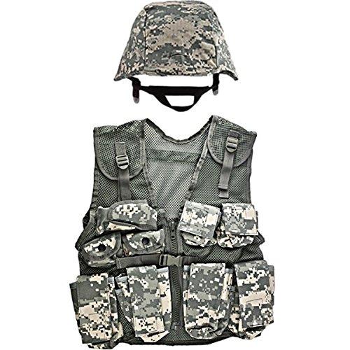 Kids-Army ACU Helmet and Kids ACU Combat Vest