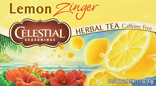 Celestial Seasonings Black Tea Honey - Celestial Seasonings Herbal Tea, Lemon Zinger, 20Count (Pack of 6)