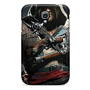 Durable Assassins Creed Iv Black Flag Back Cases/covers For Galaxy S4