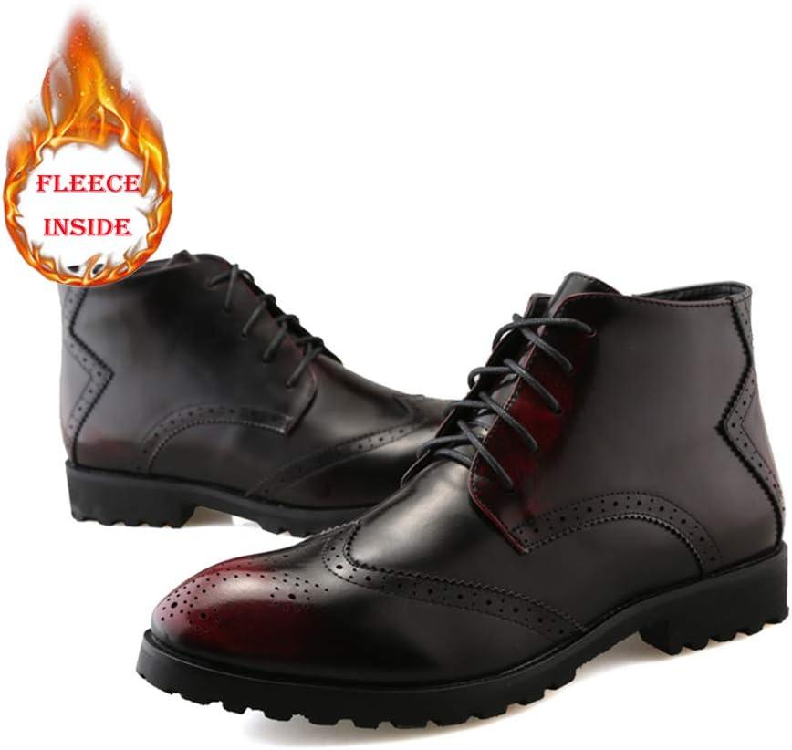 JUN Mens Dress Shoes Slip On Formal Oxfords Toe Shoes Dress Shoes Leather Formal Stylish Shoes for Men Black Leather Boots Tuxedo 2019 Color : Black, Size : 6.5 M US