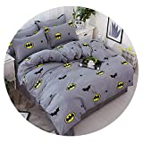Dream-catching Fashion Printed Dotted Dotted Bedding Quality Family Adult Children's Simple Style Black White Four Bedding Set Plaid Bed 25,style22,Queen 4pcs,Flat Bed Sheet