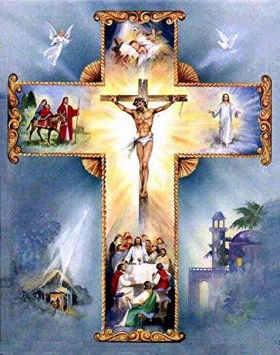 21secret 5D Diamond Diy Painting Full Drill Handmade The Crucifixion of Jesus Cross Stitch Home Decor Embroidery Kit by 21secret