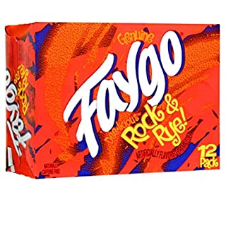 Faygo Rock and Rye, 12 oz Can (12 Pack)