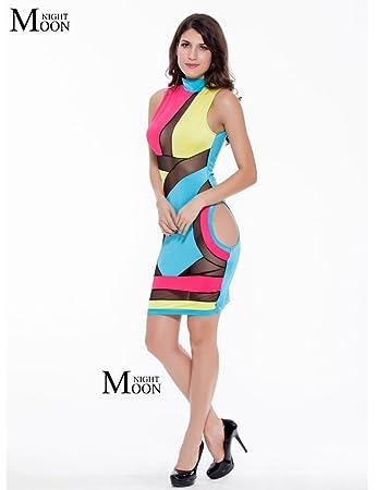 Wulty(TM) Frauen-reizvolle Loch mini eleganten, figurbetontes Kleid ...