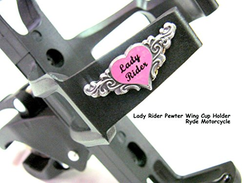 usa-seller-lady-rider-pewter-wing-motorcycle-handlebar-mount-cup-holder-easy-on-no-tools-needed-inst