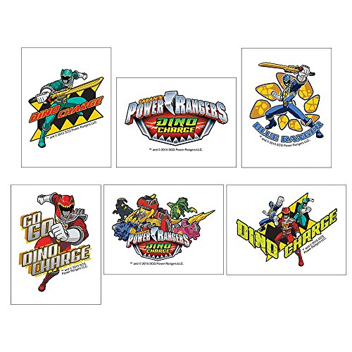 Power Rangers Dino Charge Temporary Tattoos - Birthday and Theme Party Favors - 144 per Pack (Tattoo Rangers)