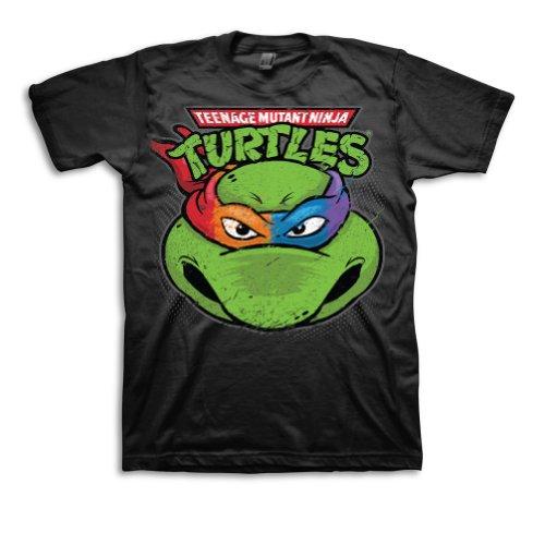 Teenage Mutant Ninja Turtles Men's 4-Colored Turtle Face ...