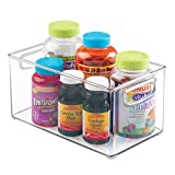 mDesign Storage Organizer Bin for Vitamins, Supplements, Health Supplies - ...