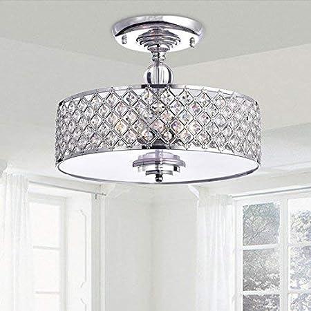Saint Mossi Modern K9 Crystal Lámpara de araña de lluvia Iluminación empotrada LED Lámpara de techo Lámpara colgante para comedor Baño Dormitorio ...