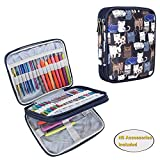 Teamoy Organizer Case for Interchangeable Circular Knitting Needles, Crochet Hooks and Knitting Accessories, Keep All in One Place and Easy to Carry, Cats Blue (No Accessories Included): more info