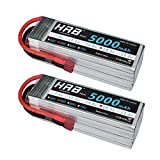 HRB Rc Lipo Battery 2packs 5S 18.5V 5000mAh 50C With T Deans Plug For RC Quad copter DJI FPV Drone
