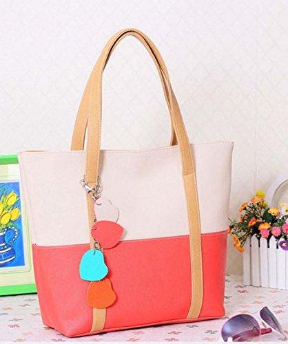 Tote Style Vincenza Designer Large Womens Bag Shoulder Leather Summer BEIGE Handbag Faux RwR0Xq