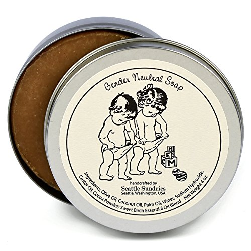 Gender Neutral Soap-100% Natural & Hand Made. Scented with Essential Oils. Convenient Travel Gift Tin.