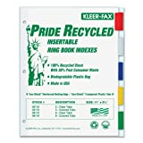 Wholesale CASE of 25 - Kleer-Fax Pride Series 5-Tab Insertable Indexes-Binder Index Tabs, 5 Tab, Letter