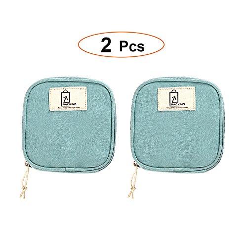 ll Item Storage Mini bag, Portable Jewellery Data Line Sanitary Napkin Kits Candy Multi-Function Organizer Pouch Case (Blue) ()