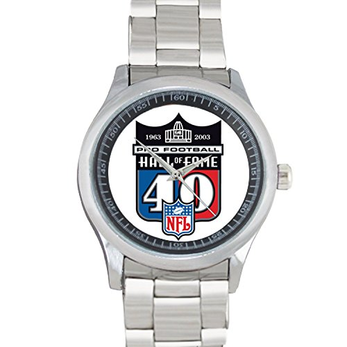 pro-football-hall-of-fame-40th-anniversary-logo-fob327-mens-wristwatches-stainless-steel-sport