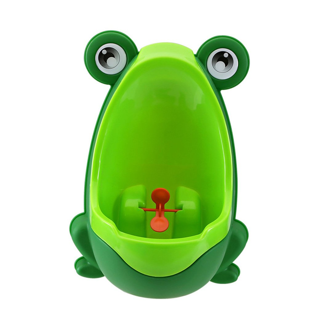 IVYRISE Frog Children Toilet Potty Training Urinal Kids Toddler Pee Trainer Bathroom with Funny Aiming Target (Green) DQURINAL-GREEN