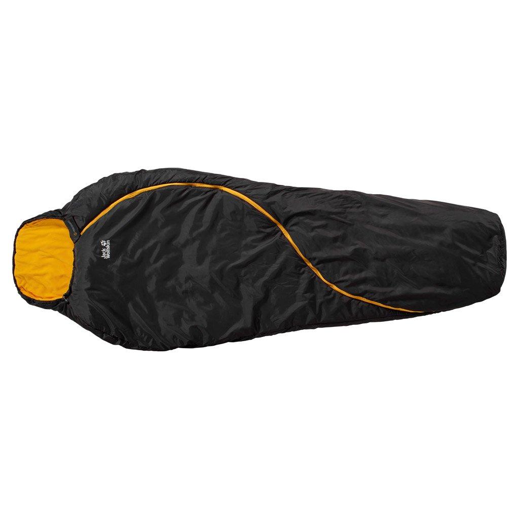 JACK WOLFSKIN SMOOZIP -5 SLEEPING BAG LEFT ZIP (BLACK) B00SVL10V8