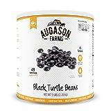 Augason Farms Black Turtle Beans #10 Can, 80 oz