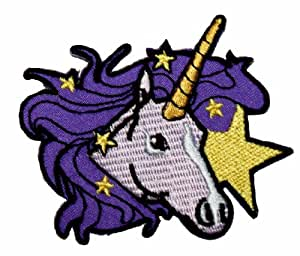 Unicorn Embroidered Iron On Applique Patch