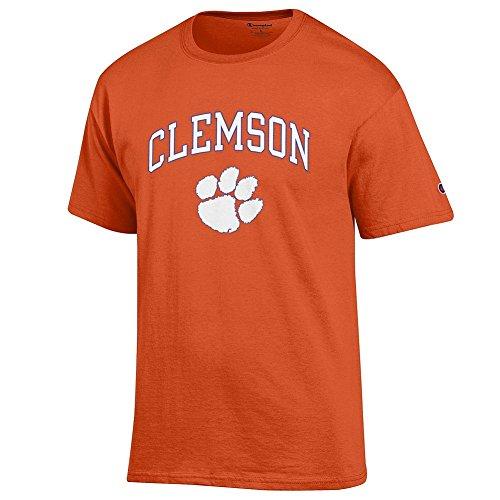 - Elite Fan Clemson Tigers Men's Short Sleeve Arch Tee, Orange, X Large
