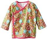 Zutano Baby-Girls Newborn Sugar Bramble Kimono Top, Chocolate, Newborn