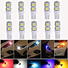 KaTur T10 194 168 168NA 175 2825 W5W 5050 9-SMD Interior Car LED Bulb License Plate Lights Side Reverse Door Courtesy Dome Map LED Light Bulbs DC 12V White 10-Pack