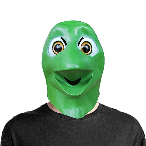 Lubber Alien Head Latex Animal Mask for Halloween Costume - Green