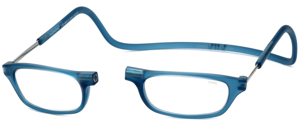 Clic Magnetic Reading Glasses in Frosted-Blue Jeans +1.50
