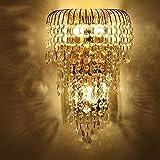 MOMO Luxury K9 Crystal Wall Lamp Led Gold Living Room Bedroom Bedside Dining Room Wall Lamp European Lighting