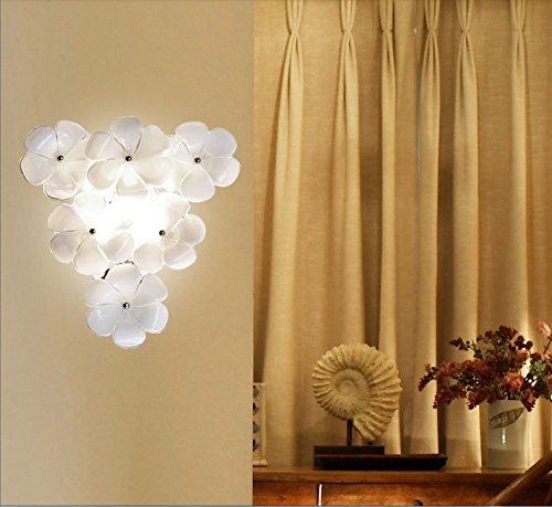 Einfache ländliche moderne romantische Wandleuchte Glas Blume Licht ...
