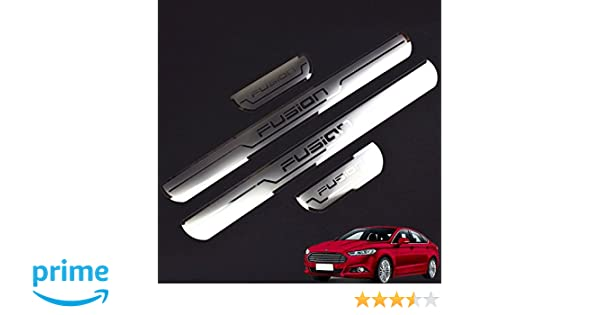 Weigesi Stainless Steel Door Sill Scuff Plate Door Sill Protector Cover Trim 4PCS for Ford Fusion 2016-2018 Car Accessories