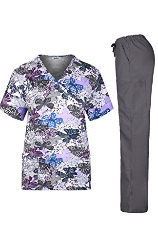MedPro Womens Printed Medical Scrub
