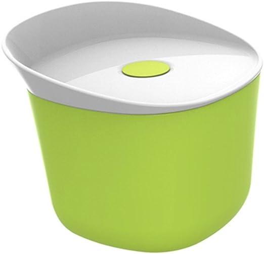 Cuadro sopa microondas circular estanco de una sola capa de preservación de calor bowl gachas tazón con tapa de plástico caja bento, Luz verde: Amazon.es: Hogar