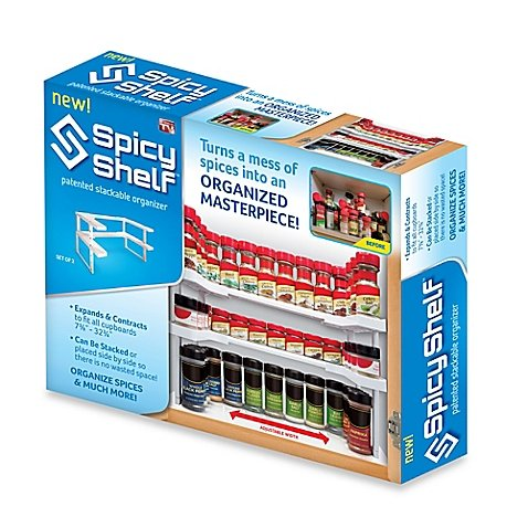 Spice Storage Shelf, Stackable Organizer. Set of 2 (Spice Organizer Rack)